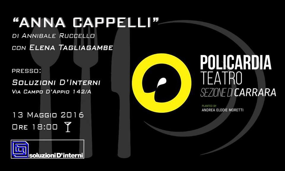"""Rappresentazione Teatrale – """"Anna Cappelli"""" di Annibale Ruccello."""